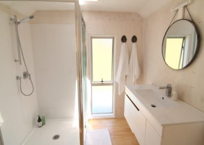 Light filled, clean bathroom