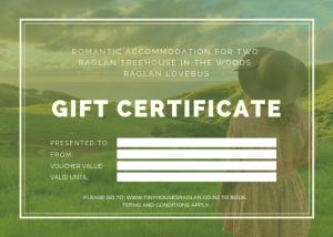 Tiny Houses Raglan Gift Certificate
